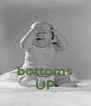 bottoms UP - Personalised Poster A4 size