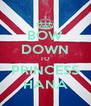 BOW DOWN TO PRINCESS HANA - Personalised Poster A4 size