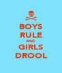 BOYS RULE AND GIRLS DROOL - Personalised Poster A4 size