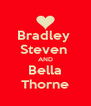 Bradley  Steven  AND Bella Thorne - Personalised Poster A4 size