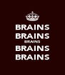 BRAINS BRAINS BRAINS BRAINS BRAINS - Personalised Poster A4 size