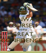 BRAINWASH YOURSELF WITH GREAT CONFIDENCE  - Personalised Poster A4 size