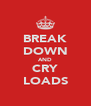 BREAK DOWN AND CRY LOADS - Personalised Poster A4 size