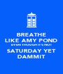 BREATHE LIKE AMY POND EVEN THOUGH IT'S NOT SATURDAY YET DAMMIT - Personalised Poster A4 size