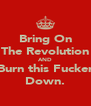 Bring On The Revolution AND Burn this Fucker Down. - Personalised Poster A4 size