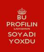 BU PROFILIN SAHIBININ SOYADI YOXDU - Personalised Poster A4 size