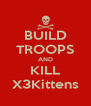 BUILD TROOPS AND KILL X3Kittens - Personalised Poster A4 size