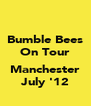 Bumble Bees On Tour  Manchester July '12 - Personalised Poster A4 size