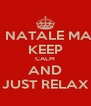 BUON NATALE MAMMA  KEEP CALM AND JUST RELAX - Personalised Poster A4 size