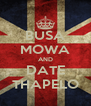 BUSA MOWA AND DATE THAPELO - Personalised Poster A4 size