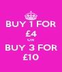 BUY 1 FOR £4 OR BUY 3 FOR £10 - Personalised Poster A4 size