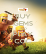 BUY GEMS AND PLAY COC - Personalised Poster A4 size