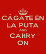 CÁGATE EN LA PUTA AND CARRY ON - Personalised Poster A4 size