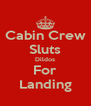 Cabin Crew Sluts Dildos For Landing - Personalised Poster A4 size