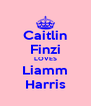 Caitlin Finzi LOVES Liamm Harris - Personalised Poster A4 size