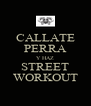 CALLATE PERRA Y HAZ STREET WORKOUT - Personalised Poster A4 size