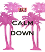 CALM  DOWN  - Personalised Poster A4 size