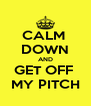 CALM  DOWN AND GET OFF  MY PITCH - Personalised Poster A4 size