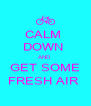 CALM  DOWN  AND  GET SOME FRESH AIR  - Personalised Poster A4 size