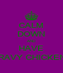 CALM DOWN AND HAVE GRAVY CHICKEN ! - Personalised Poster A4 size