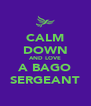CALM DOWN AND LOVE A BAGO SERGEANT - Personalised Poster A4 size