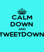 CALM DOWN AND TWEETDOWN  - Personalised Poster A4 size