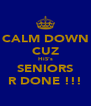 CALM DOWN CUZ HiS's SENIORS R DONE !!! - Personalised Poster A4 size