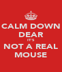 CALM DOWN DEAR IT'S NOT A REAL MOUSE - Personalised Poster A4 size