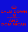 CALM DOWN IM PUERTO Rican AND DOMINICAN - Personalised Poster A4 size