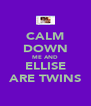 CALM DOWN ME AND ELLISE ARE TWINS - Personalised Poster A4 size