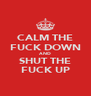 CALM THE FUCK DOWN AND SHUT THE FUCK UP - Personalised Poster A4 size