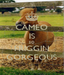 CAMEO IS SO FRIGGIN GORGEOUS - Personalised Poster A4 size