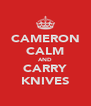 CAMERON CALM AND CARRY KNIVES - Personalised Poster A4 size