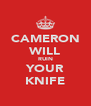 CAMERON WILL RUIN YOUR KNIFE - Personalised Poster A4 size