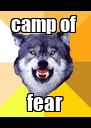 camp of  fear - Personalised Poster A4 size