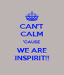 CAN'T CALM 'CAUSE WE ARE INSPIRIT!! - Personalised Poster A4 size