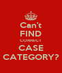 Can't FIND CORRECT CASE CATEGORY? - Personalised Poster A4 size