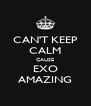 CAN'T KEEP CALM CAUSE EXO AMAZING - Personalised Poster A4 size