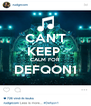 CAN'T KEEP  CALM FOR DEFQON1  - Personalised Poster A4 size