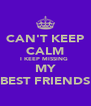 CAN'T KEEP CALM I KEEP MISSING  MY BEST FRIENDS - Personalised Poster A4 size