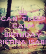 CAN´T KEEP CALM IT´S BIRTHDAY CRISTINA ISABEL - Personalised Poster A4 size