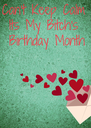 Can't Keep Calm Its My Bitch's  Birthday Month  😍 - Personalised Poster A4 size