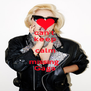 can't  keep calm missing  Gaga - Personalised Poster A4 size