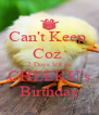 Can't Keep  Coz  2 Days left its CHEEKU's Birthday - Personalised Poster A4 size