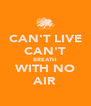 CAN'T LIVE CAN'T BREATH WITH NO AIR - Personalised Poster A4 size