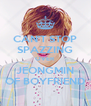 CAN'T STOP SPAZZING OVER JEONGMIN OF BOYFRIEND - Personalised Poster A4 size