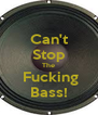 Can't Stop The  Fucking Bass! - Personalised Poster A4 size