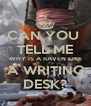 CAN YOU  TELL ME WHY IS A RAVEN LIKE A WRITING DESK? - Personalised Poster A4 size
