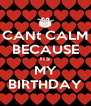 CANt CALM BECAUSE ITS MY BIRTHDAY - Personalised Poster A4 size
