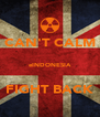 CAN'T CALM  eINDONESIA  FIGHT BACK - Personalised Poster A4 size